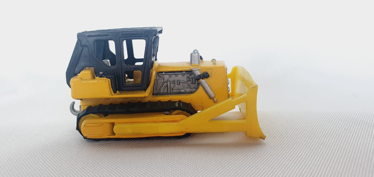 Miniatura Trator Caterpillar Bulldozer N°64 1/64 Matchbox Anos 70