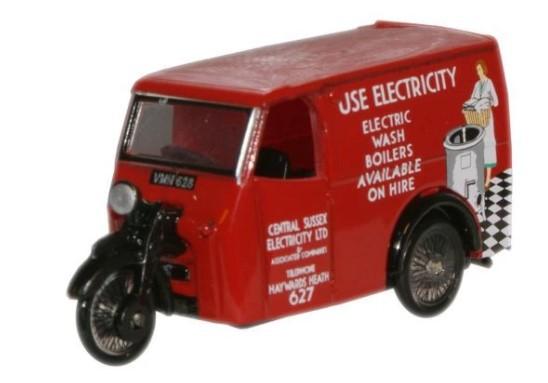 Miniatura Tricycle Van Electricity 1/76 Oxford