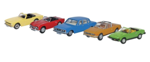 Miniatura Triumph Set 5 Pieces 1/76 Oxford