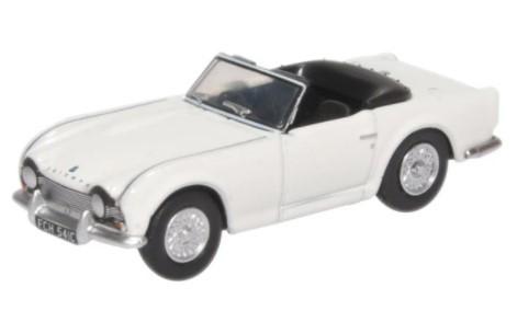 Miniatura Triumph TR4 New White 1/76 Oxford