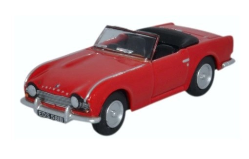 Miniatura Triumph TR4 Signal Red 1/76 Oxford