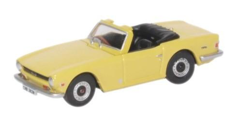 Miniatura Triumph TR6 Mimosa Yellow 1/76 Oxford