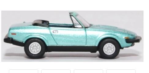 Miniatura Triumph TR7 Convertible Persian Aqua Metallic 1/76 Oxford