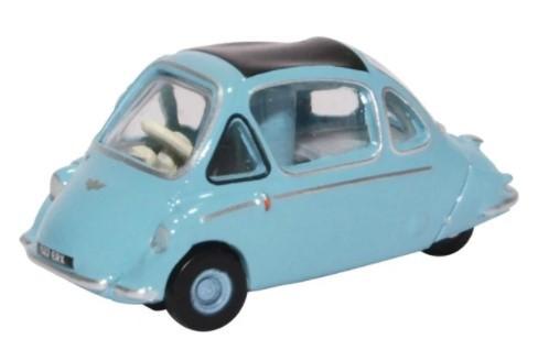 Miniatura Trojan Bubble Car Heinkel Roman Blue 1/76 Oxford