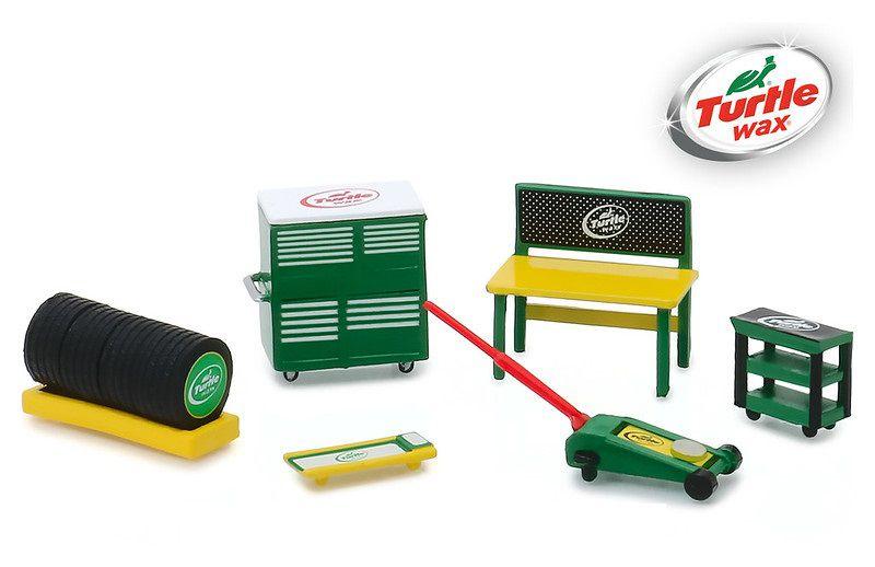 Miniatura Turtle Wax Shop Tool Accessories 1/64 Greenlight