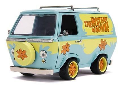 Miniatura Van Mystery Machine Scooby Doo Com Boneco 1/24 Jada Toys