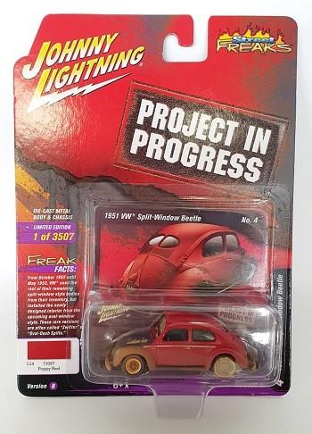 Miniatura Volkswagen Fusca 1951 1/64 Johnny Lightning