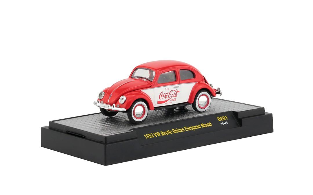 Miniatura Volkswagen Fusca 1953 Deluxe USA Model Coca Cola 1/64 M2