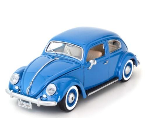Miniatura Volkswagen Fusca 1955 Azul 1/18 Bburago