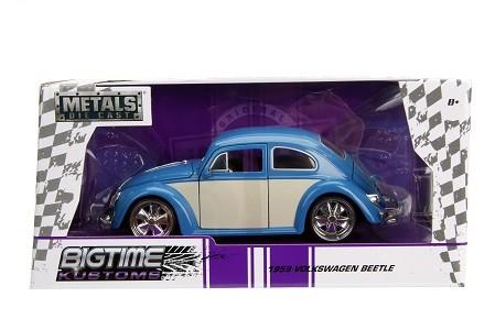 Miniatura Volkswagen Fusca 1959 Azul Big Time 1/24 Jada Toys