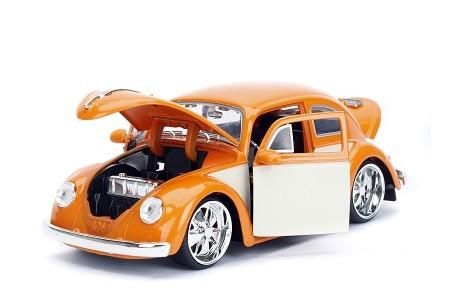 Miniatura Volkswagen Fusca 1959 Laranja Big Time 1/24 Jada Toys