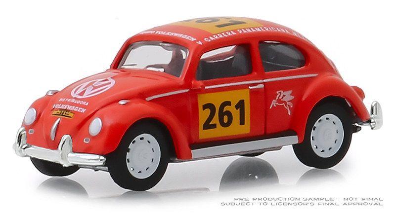 Miniatura Volkswagen Fusca #261 La Carrera Panamericana 1954 1/64 Greenlight