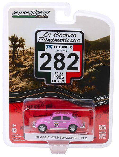 Miniatura Volkswagen Fusca #282 La Carrera Panamericana 2010 1/64 Greenlight