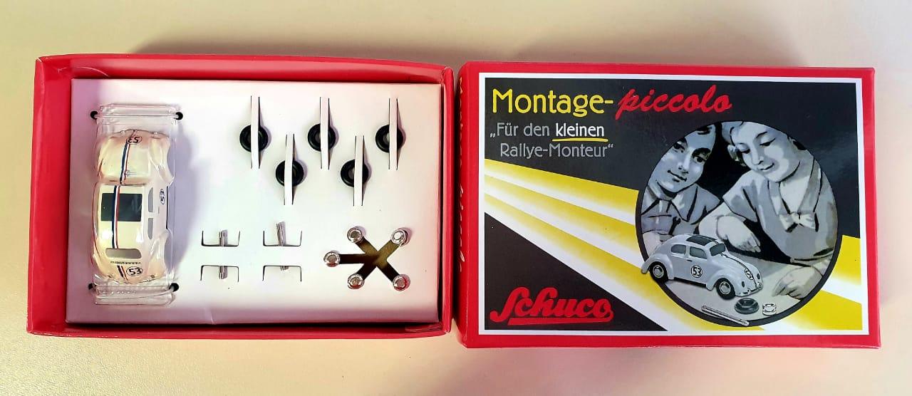 Miniatura Volkswagen Fusca 53 Montage Piccolo 1/87 Schuco