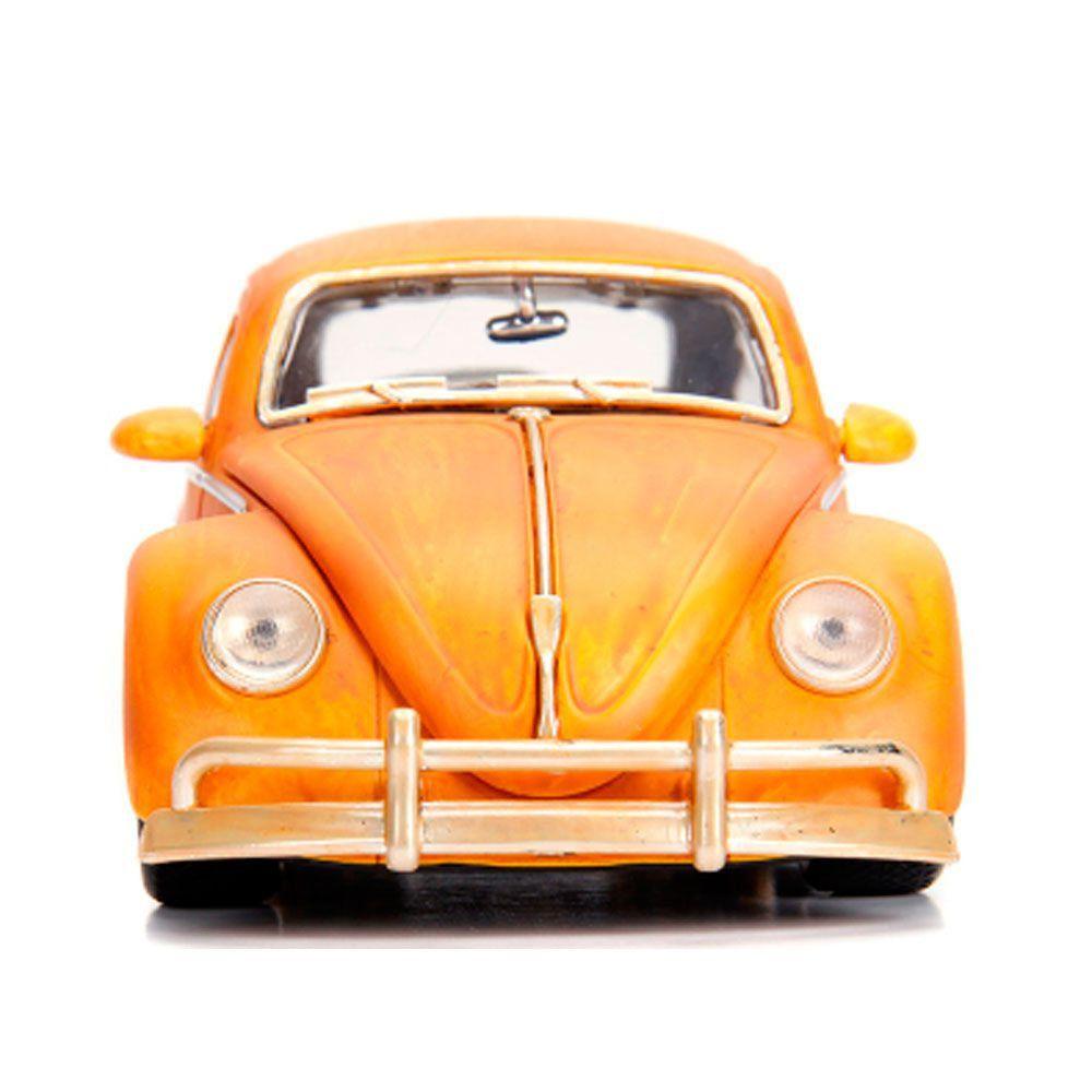 Miniatura Volkswagen Fusca Bumblebee Transformes com Boneco 1/24 Jada Toys
