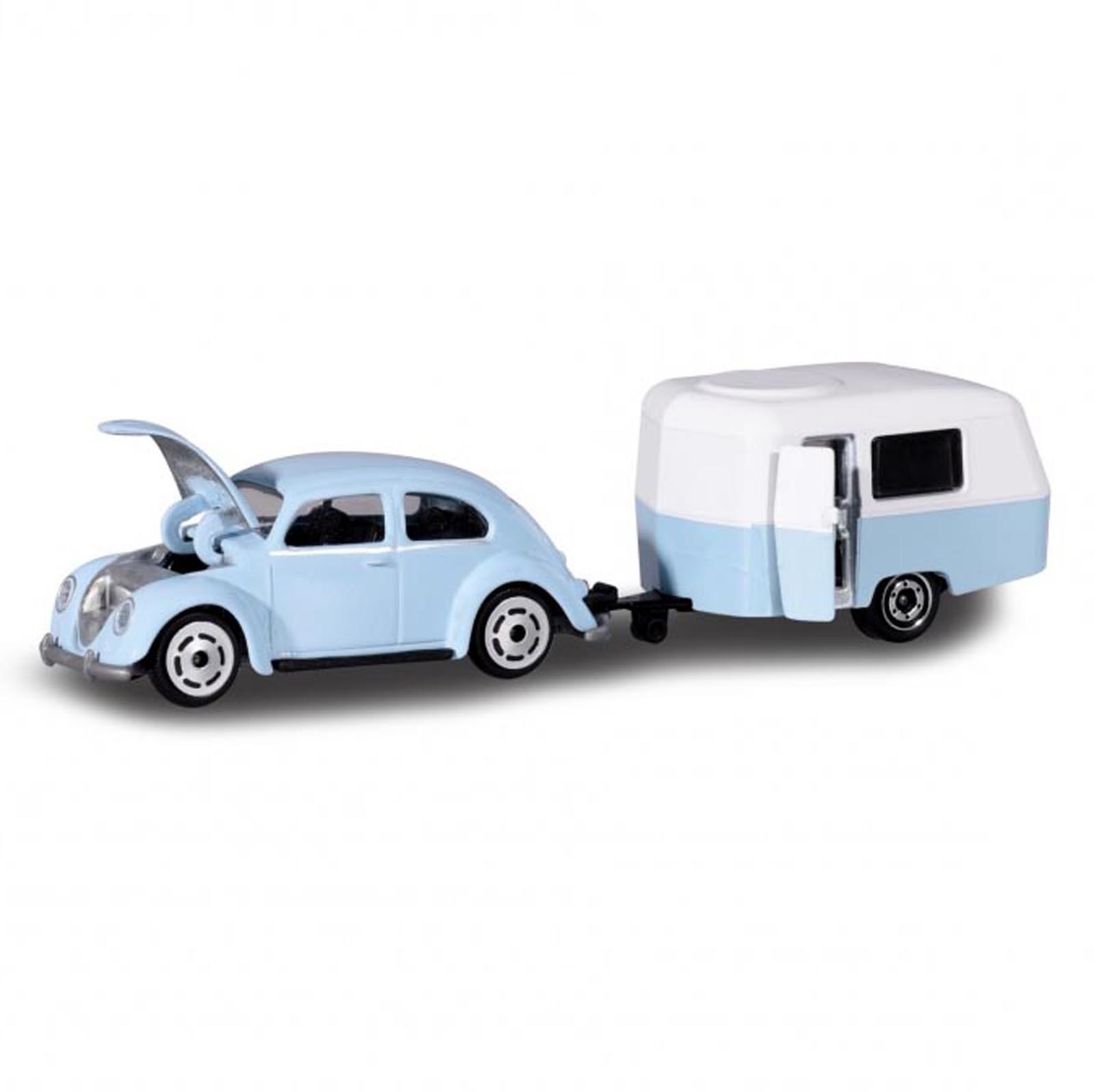 Miniatura Volkswagen Fusca com Trailer 1/64 Majorette