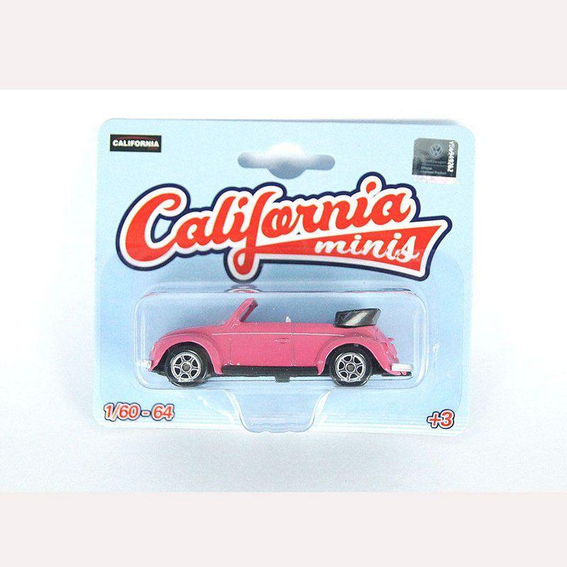 Miniatura Volkswagen Fusca Conversível 1/64 California Minis