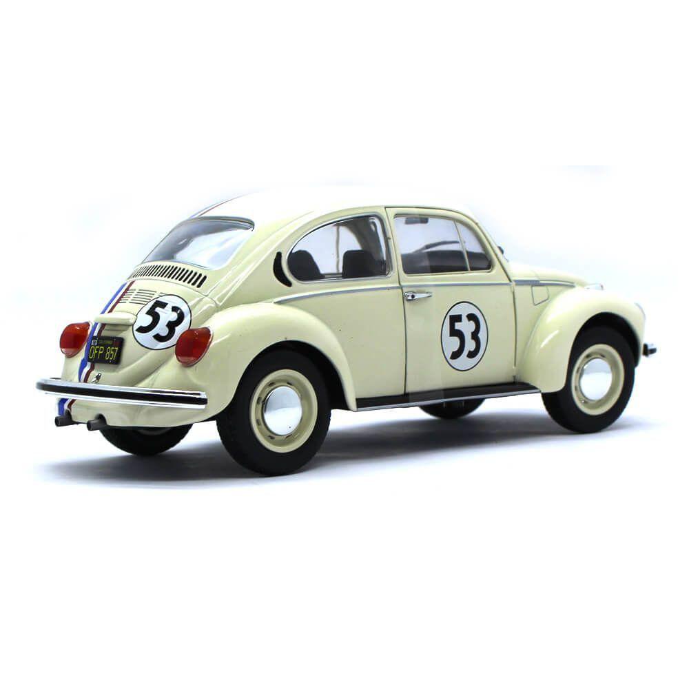 Miniatura Volkswagen Fusca N 53 Racer Herbie 1973 1/18 Solido
