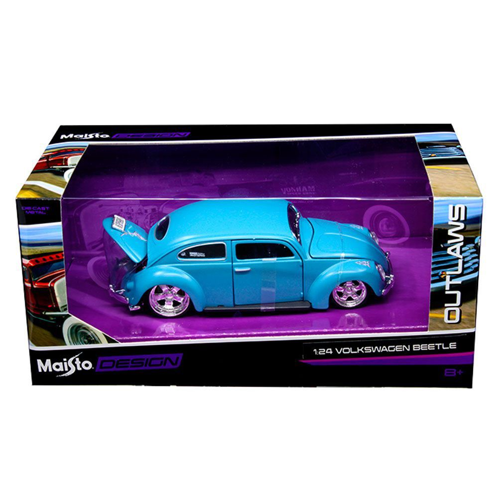 Miniatura Volkswagen Fusca Outlaws Design 1/24 Maisto