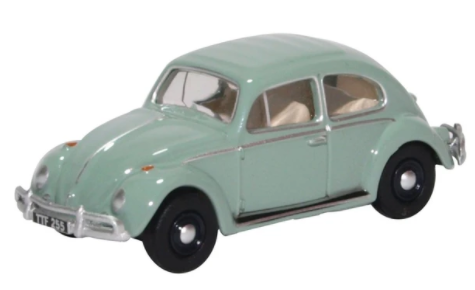 Miniatura Volkswagen Fusca Patel Blue 1/76 Oxford