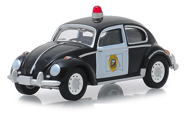 Miniatura Volkswagen Fusca Policia Hot Pursuit 1/64 Greenlight