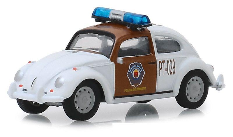 Miniatura Volkswagen Fusca Policia Mexico 1/64 Greenlight