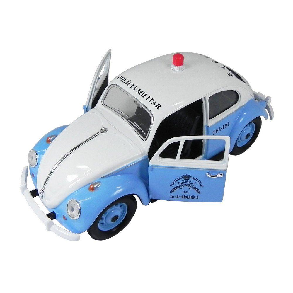 Miniatura Volkswagen Fusca Polícia Militar Rio de Janeiro 1967 1/24 California Collectibles