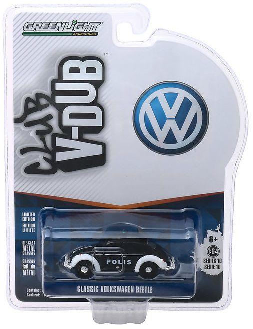 Miniatura Volkswagen Fusca Policia Norway V DUBS  1/64 Greenlight