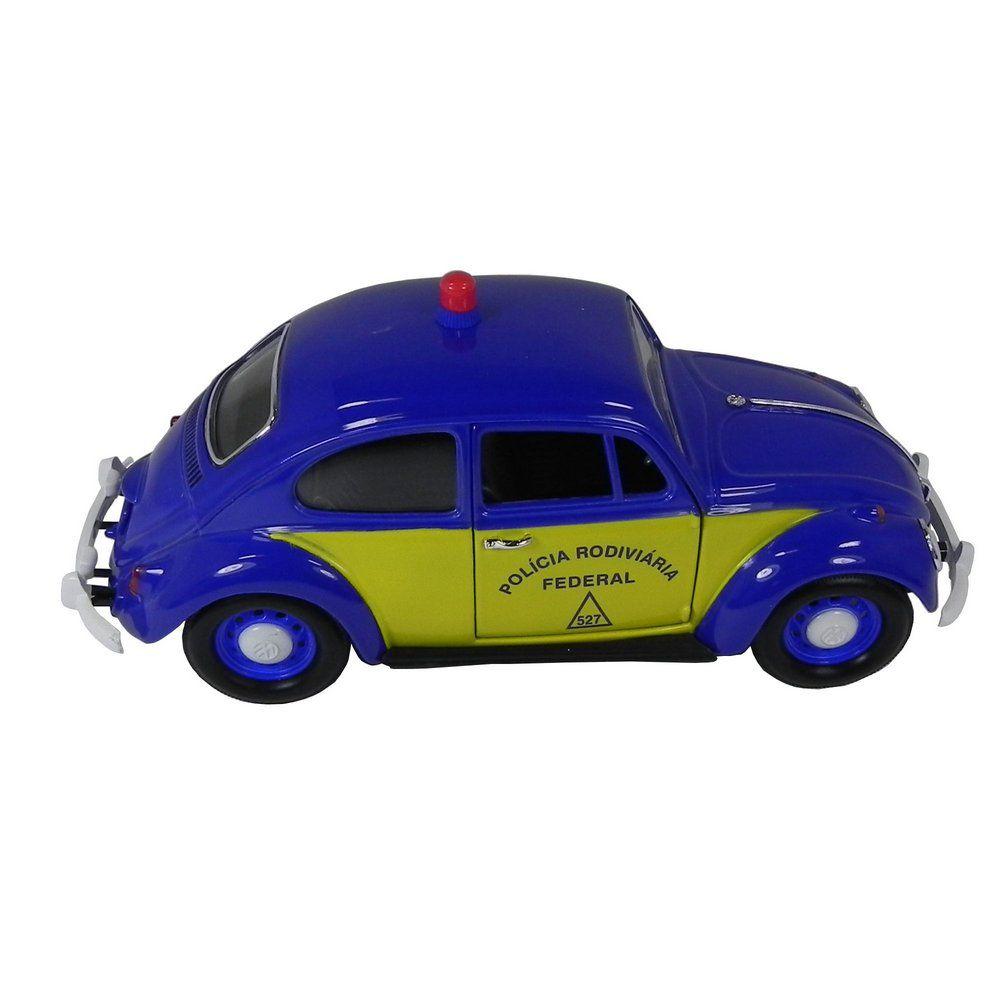Miniatura Volkswagen Fusca Polícia Rodoviária 1967 1/24 California Collectibles