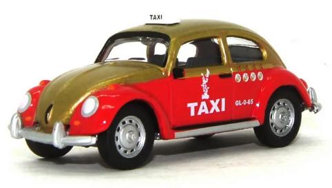 Miniatura Volkswagen Fusca Táxi  1/64 California Collectibles