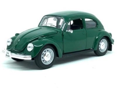 Miniatura Volkswagen Fusca Verde 1973 1/24 Maisto