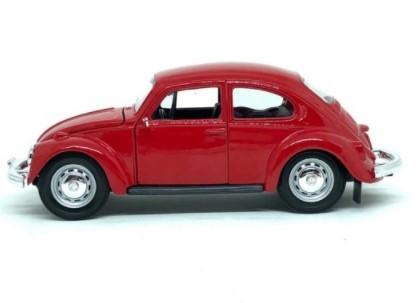 Miniatura Volkswagen Fusca Vermelho 1973 1/24 Maisto