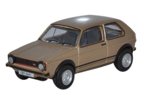 Miniatura Volkswagen Golf GTI  Diamond Cooper Brown Metallic 1/76 Oxford