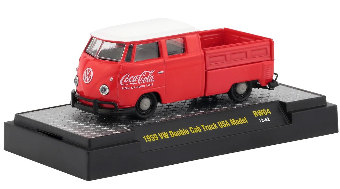 Miniatura Volkswagen Kombi 1959 Pick Up Coca Cola 1/64 M2