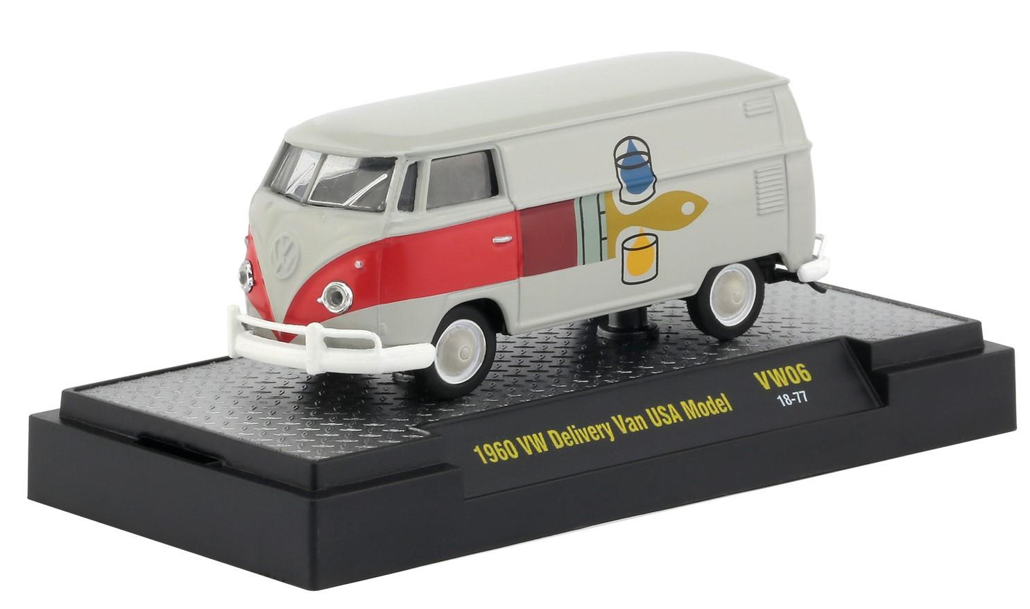 Miniatura Volkswagen Kombi 1960 Cinza 1/64 M2