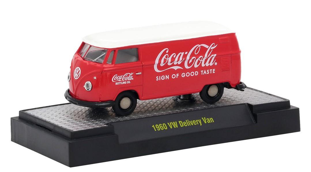 Miniatura Volkswagen Kombi 1960 Coca Cola Red & White 1/64 M2