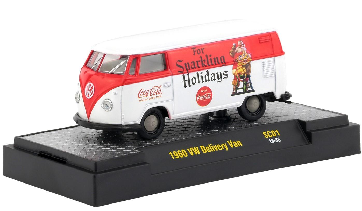 Miniatura Volkswagen Kombi 1960 Vermelha Coca Cola Santa Claus 1/64 M2