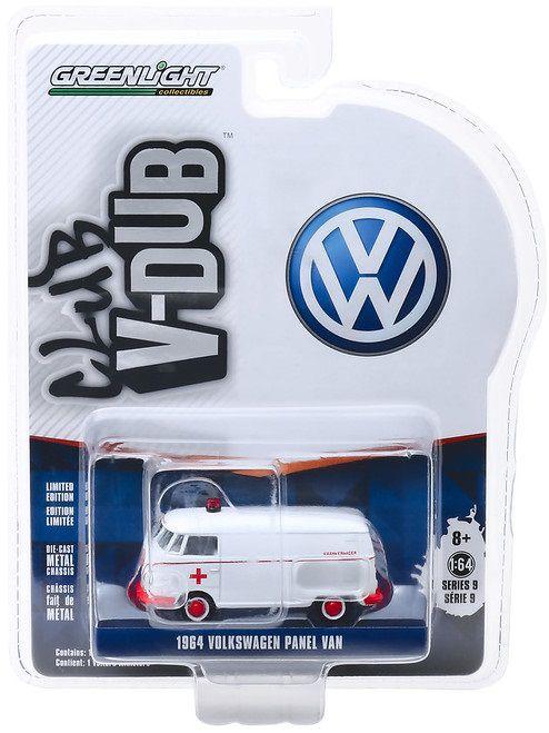 Miniatura Volkswagen Kombi 1964 Ambulancia 1/64 Greenlight