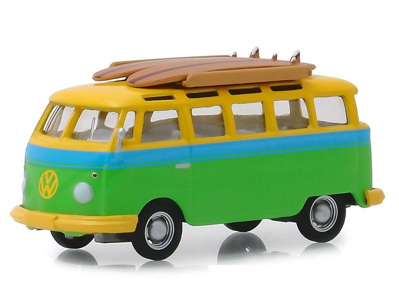 Miniatura Volkswagen Kombi 1964 Surfboard 1/64 Greenlight