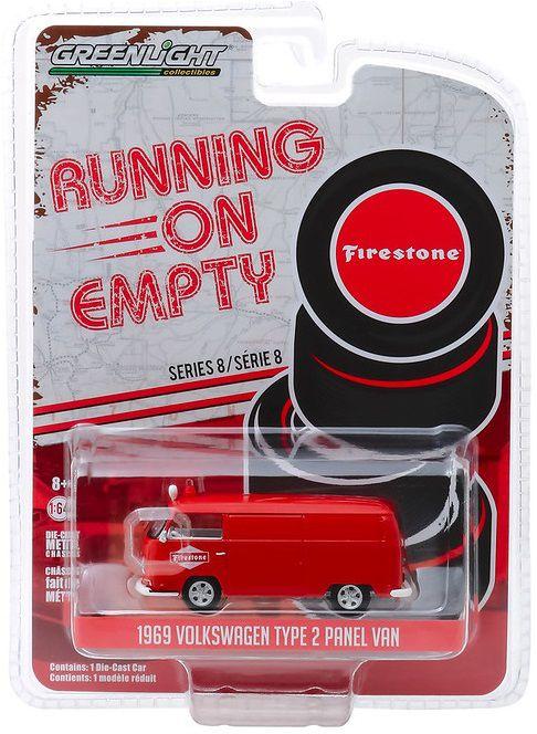 Miniatura Volkswagen Kombi 1969 Firestone  Running on Empty 1/64 Greenlight