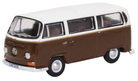 Miniatura Volkswagen Kombi Bus Brown/White 1/76 Oxford