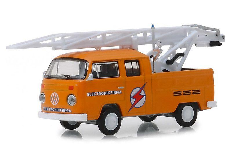 Miniatura Volkswagen Kombi Cabine Dupla 1972 1/64 Greenlight