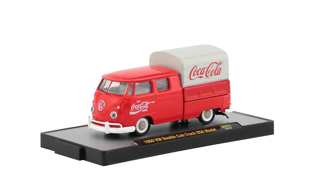 Miniatura Volkswagen Kombi Double Cap 1960 USA Model Coca Cola 1/64 M2