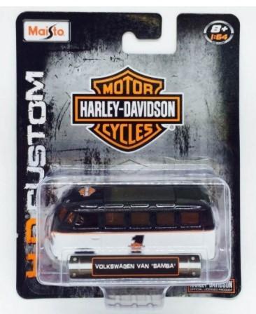 Miniatura Volkswagen Kombi Harley Davidson Custom 1/64 Maisto