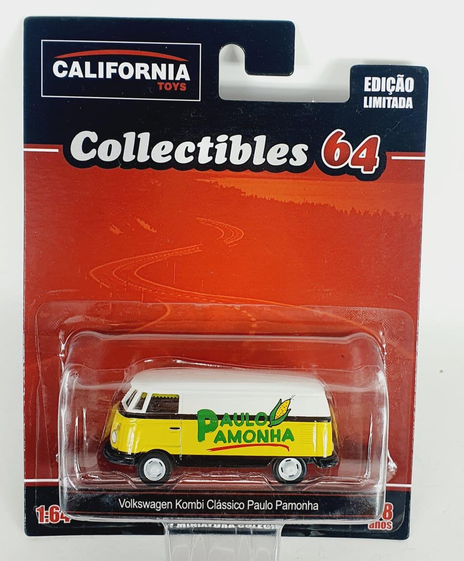 Miniatura Volkswagen Kombi Paulo Pamonha 1/64 California Collectibles