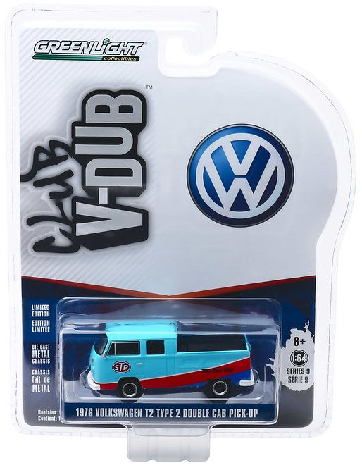 Miniatura Volkswagen Kombi Pick Up 1976 STP 1/64 Greenlight