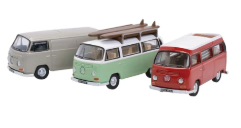 Miniatura Volkswagen Kombi Set 3 Pieces 1/76 Oxford