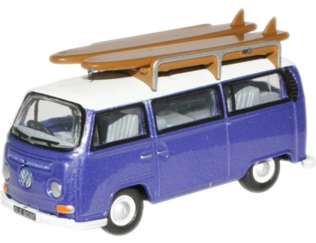 Miniatura Volkswagen Kombi Surf Metallic Purple 1/76 Oxford