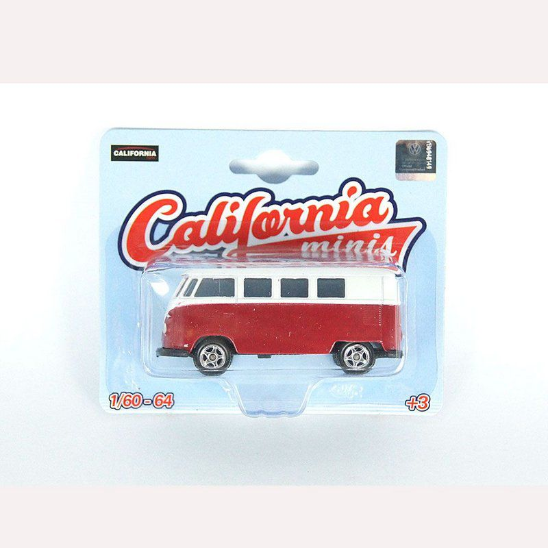 Miniatura Volkswagen Kombi T1 1/64 California Minis