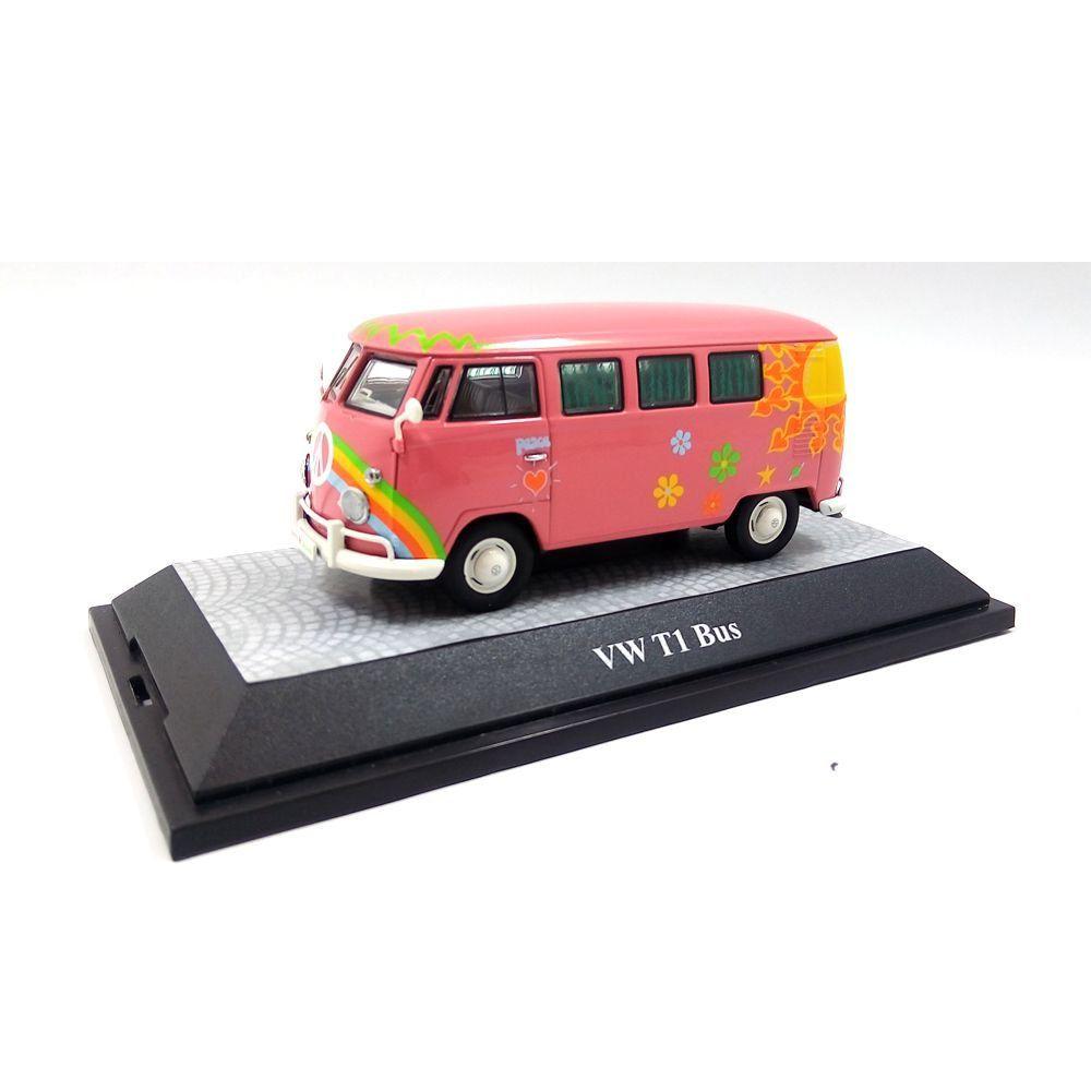 Miniatura Volkswagen Kombi T1 Minibus Flowerpower 1962 1/43 Premium Classixxs